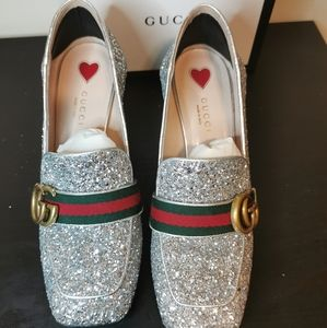 Gucci Silver Loafer with double G